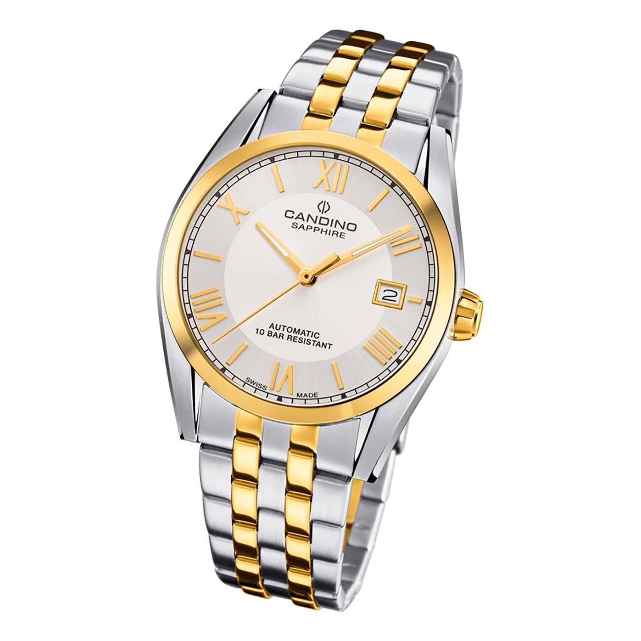 Candino Herren Armbanduhr Automatik C4702/1 Edelstahl silber gold UC4702/1