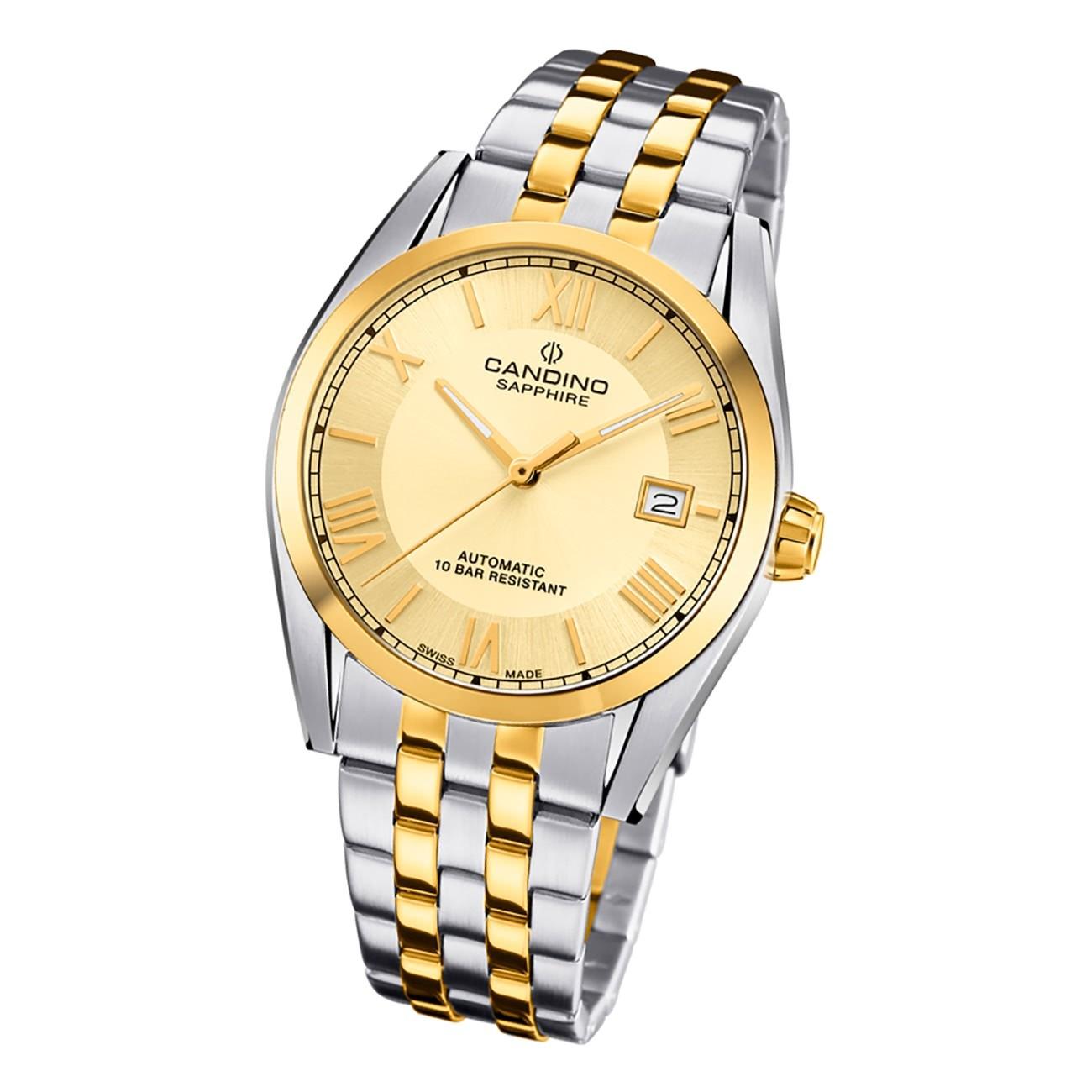 Candino Herren Armbanduhr Automatik C4702/3 Edelstahl silber gold UC4702/3