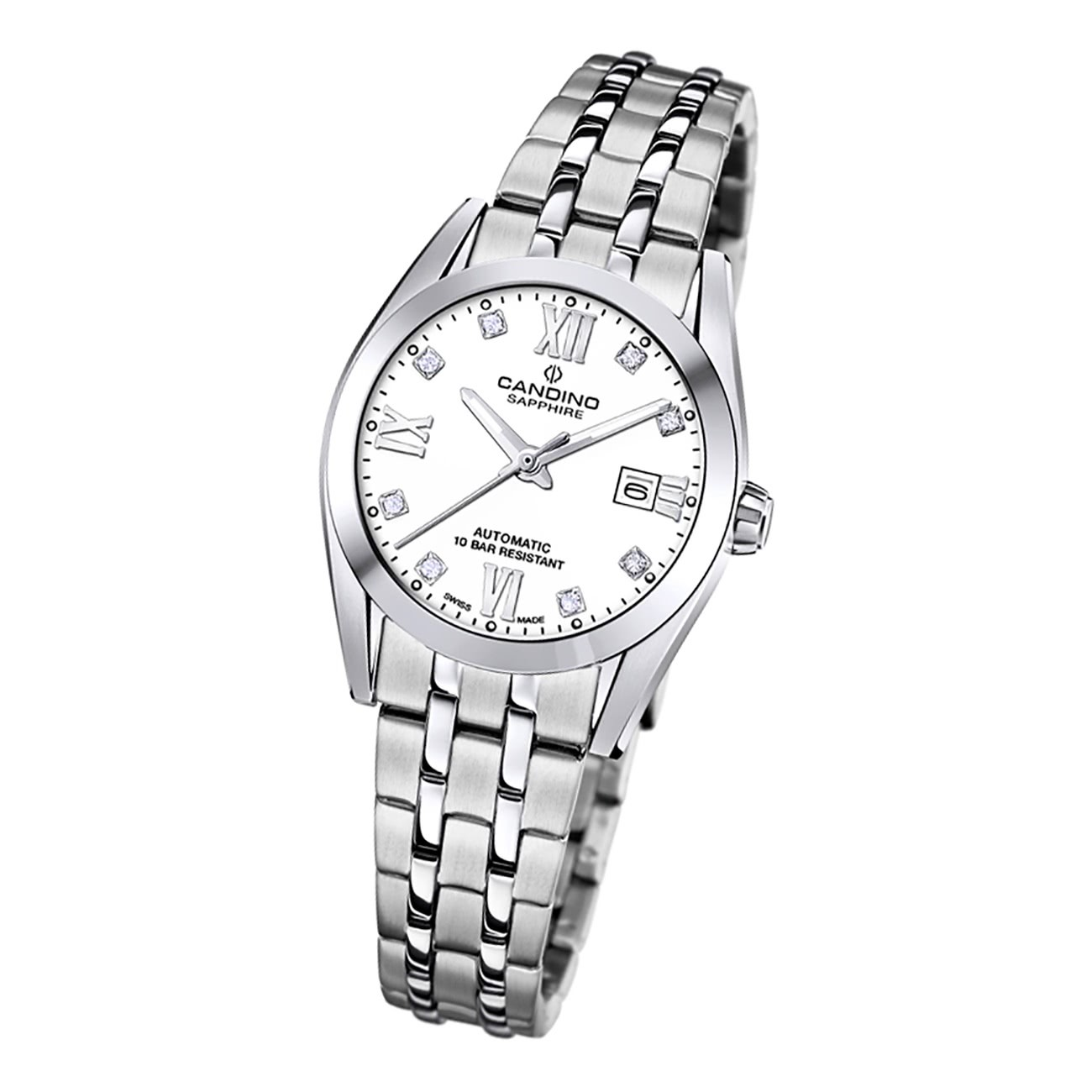 Candino Damen Armbanduhr Automatik C4703/1 Analog Edelstahl silber UC4703/1