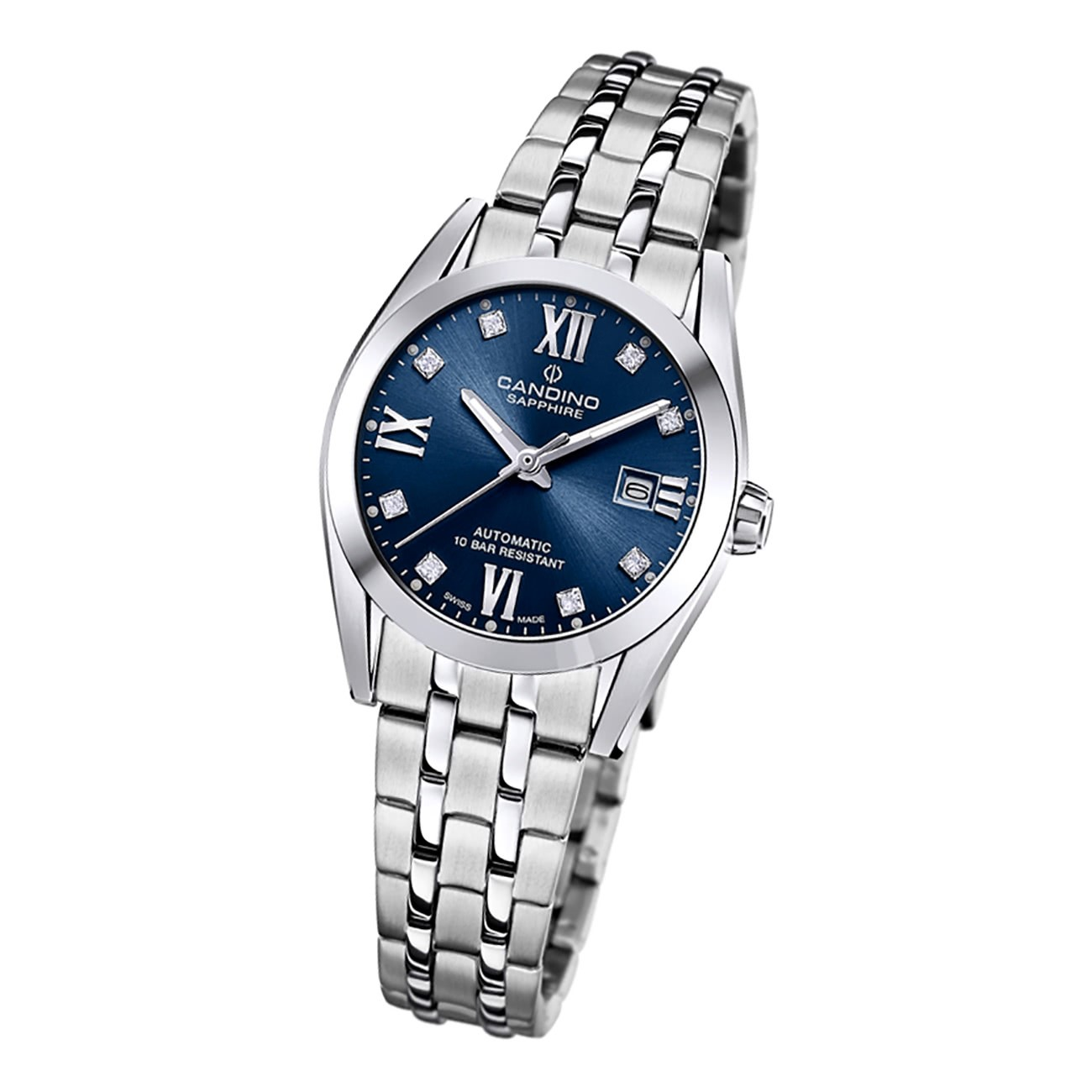 Candino Damen Armbanduhr Automatik C4703/2 Analog Edelstahl silber UC4703/2