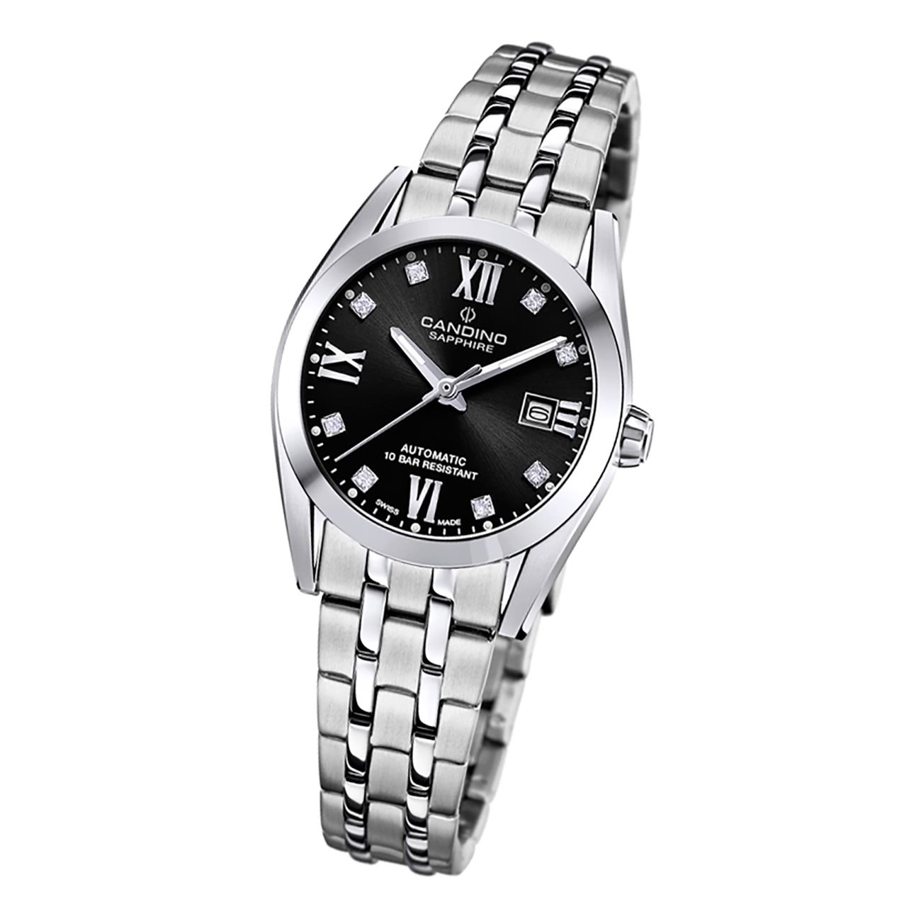 Candino Damen Armbanduhr Automatik C4703/3 Analog Edelstahl silber UC4703/3
