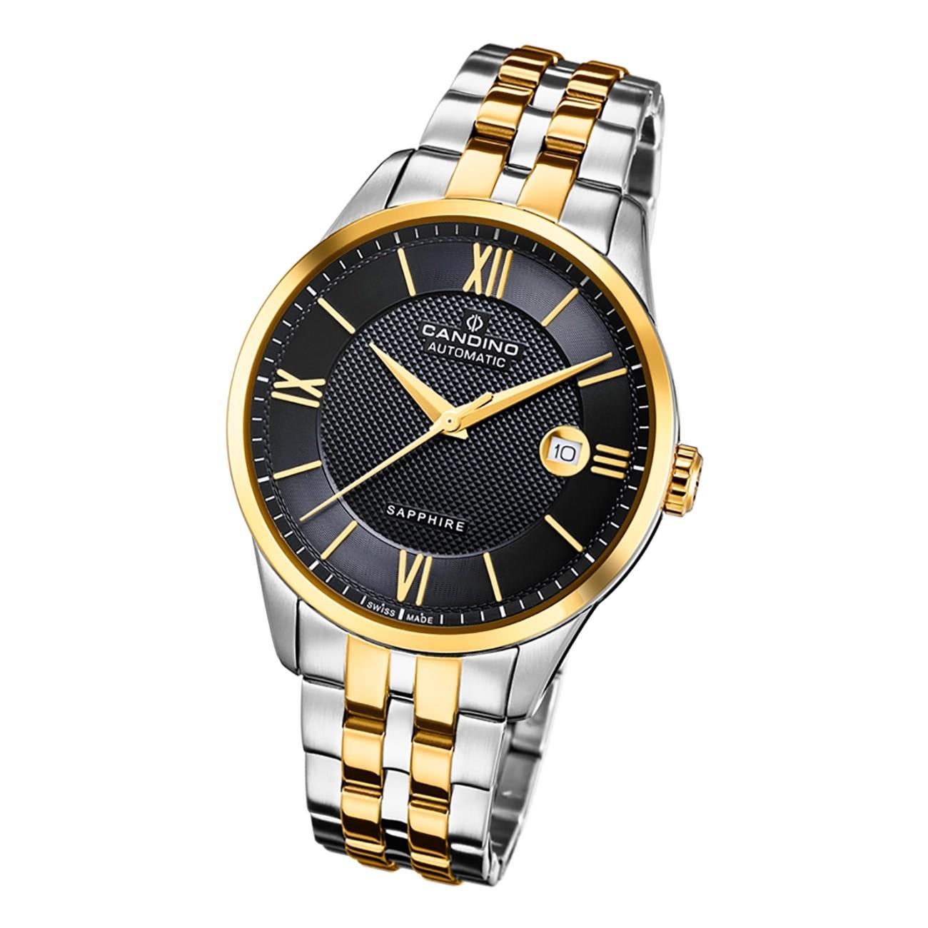 Candino Herren Armbanduhr Automatik C4706/3 Edelstahl silber gold UC4706/3