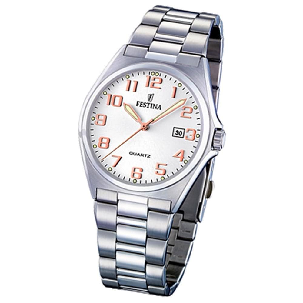 FESTINA Herren-Armbanduhr analog Quarz Edelstahl Klassik Uhr UF16374/7