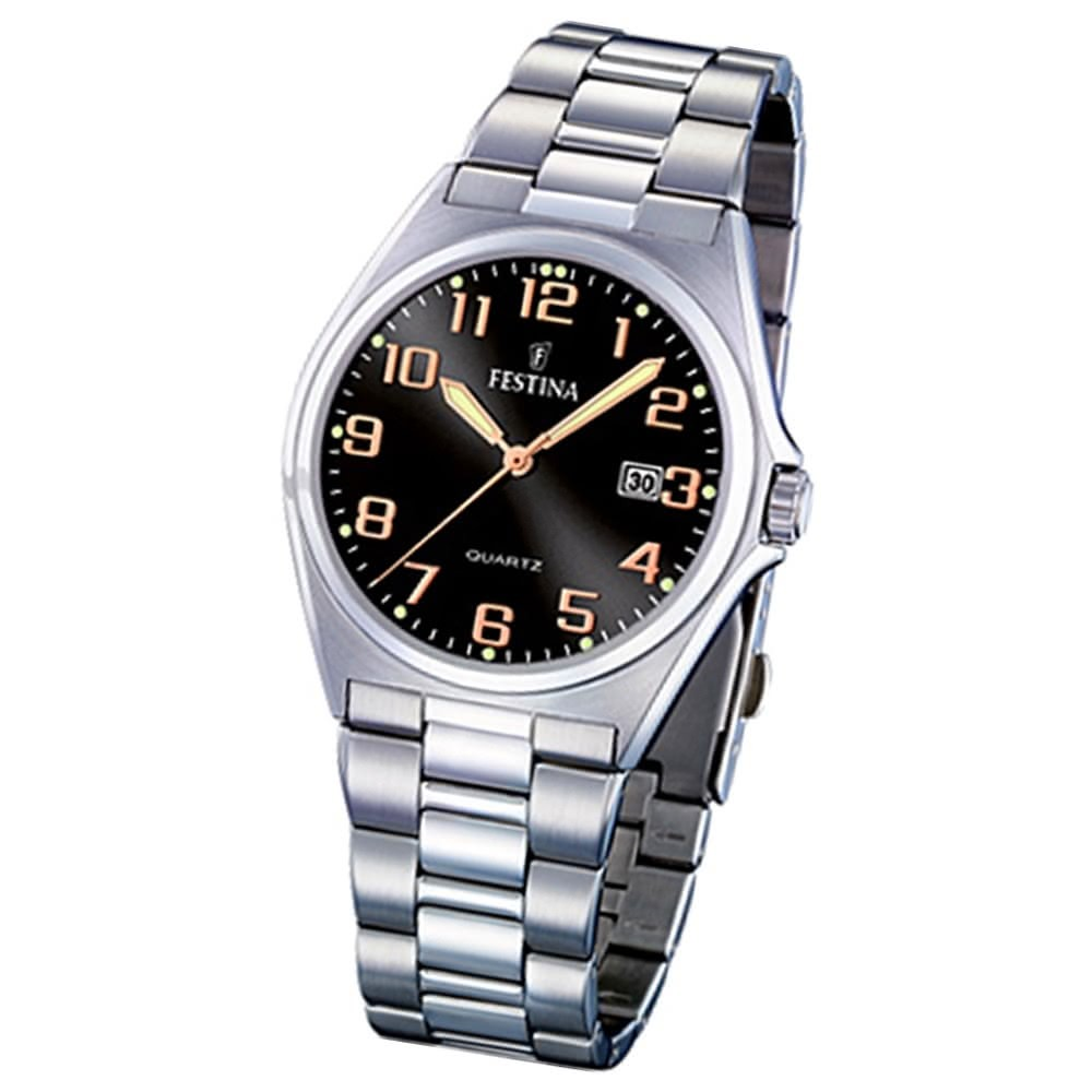 FESTINA Herren-Armbanduhr analog Quarz Edelstahl Klassik Uhr UF16374/8