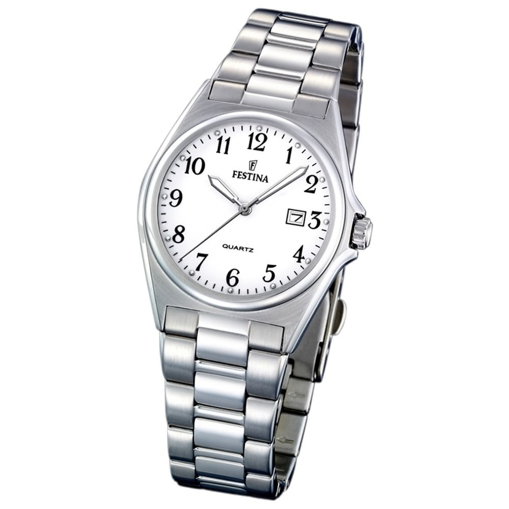 FESTINA Damen-Armbanduhr analog Quarz Edelstahl Klassik Uhr UF16375/1