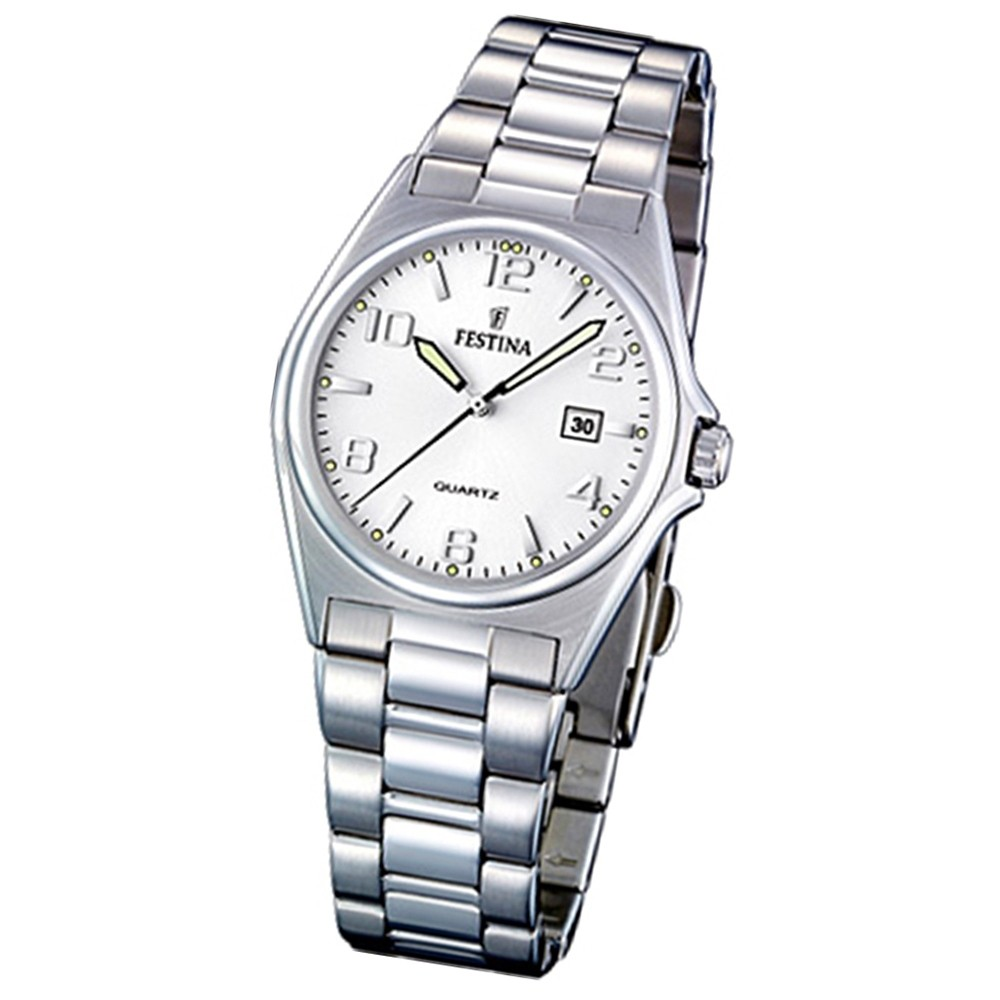 FESTINA Damen-Armbanduhr analog Quarz Edelstahl Klassik Uhr UF16375/5