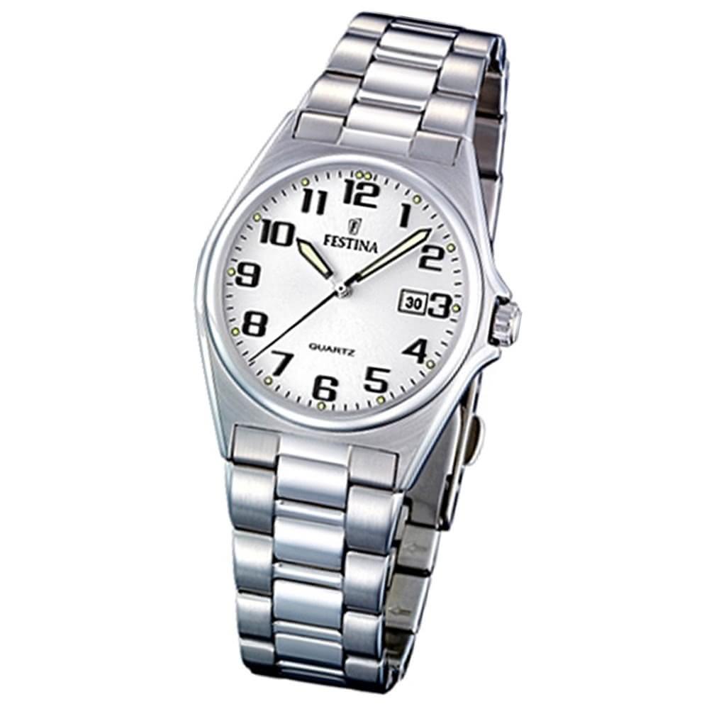 FESTINA Damen-Armbanduhr analog Quarz Edelstahl Klassik Uhr UF16375/9