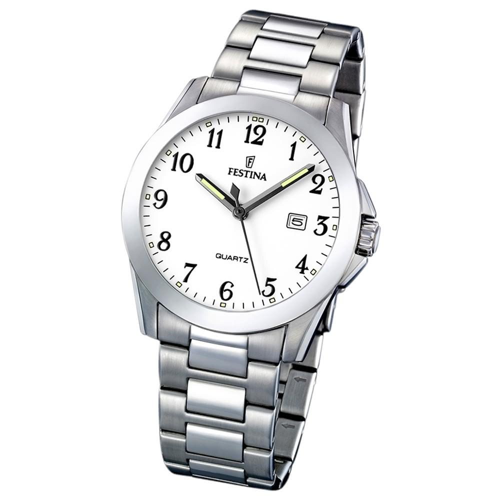 FESTINA Herren-Armbanduhr analog Quarz Edelstahl Klassik Uhr UF16376/1