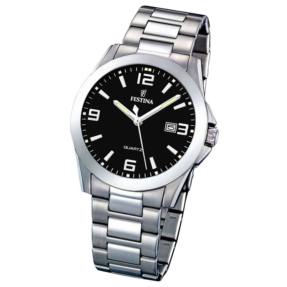 FESTINA Herren-Armbanduhr analog Quarz Edelstahl Klassik Uhr UF16376/4