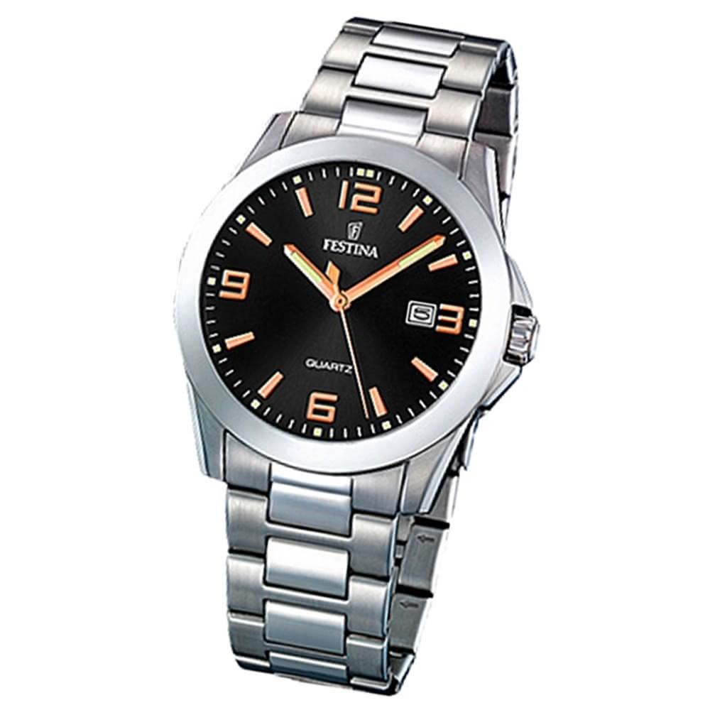 FESTINA Herren-Armbanduhr analog Quarz Edelstahl Klassik Uhr UF16376/6