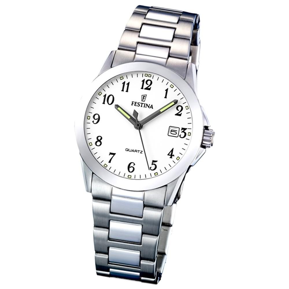 FESTINA Damen-Armbanduhr analog Quarz Edelstahl Klassik Uhr UF16377/1