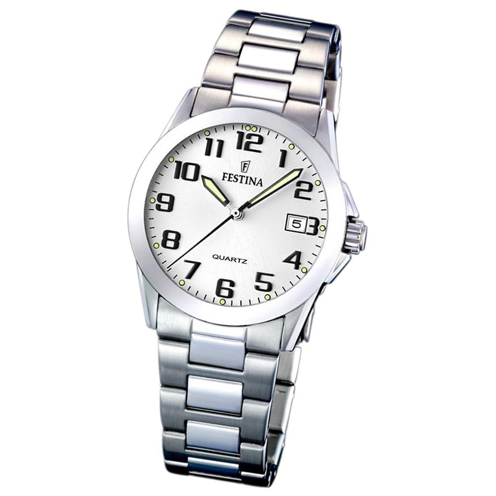 FESTINA Damenuhr Klassik Analog Quarz Uhr Edelstahl Armband silber UF16377/7