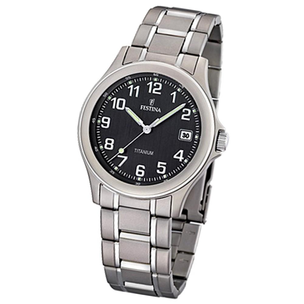 FESTINA Herren-Armbanduhr analog Quarz Titan UF16458/3