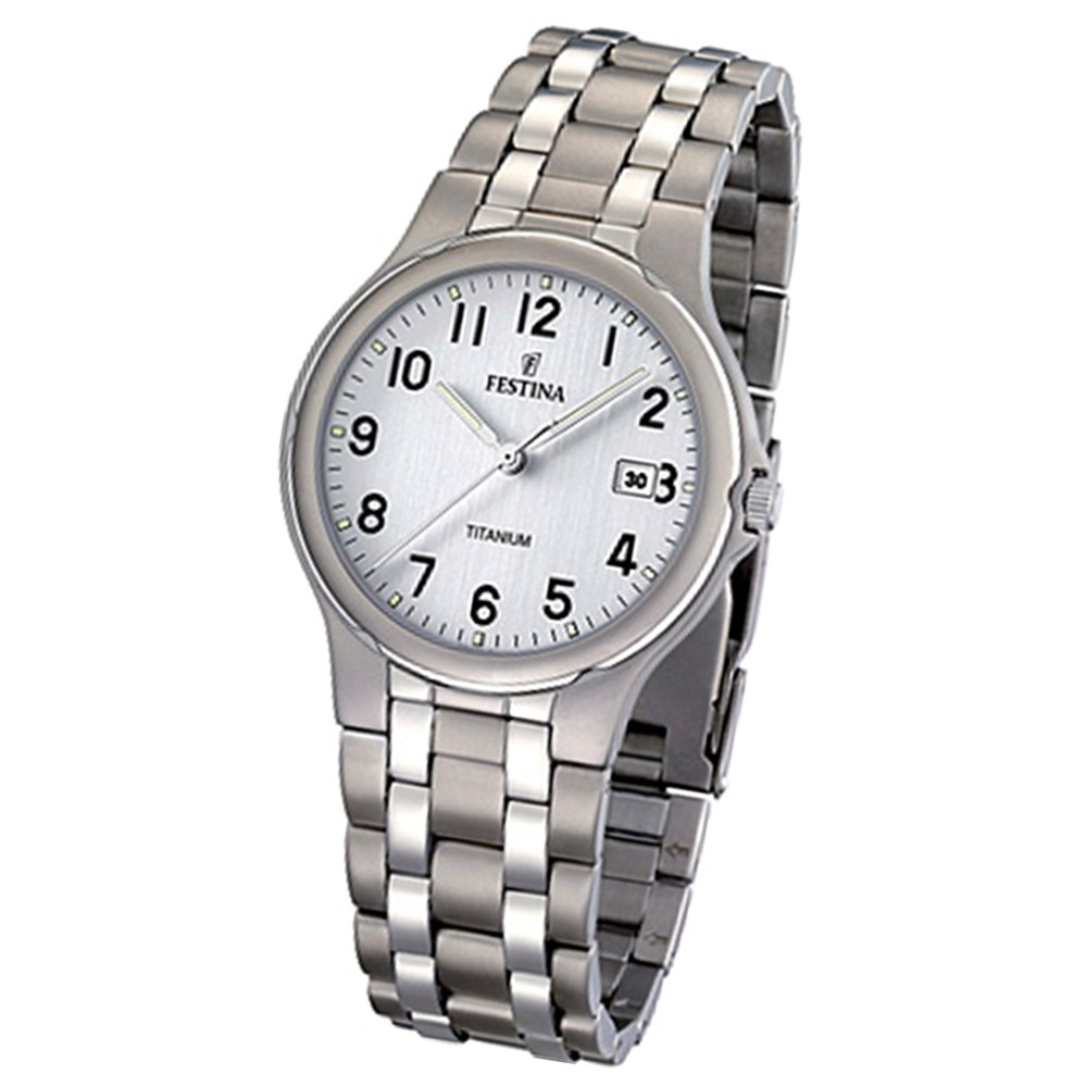 FESTINA Herren-Armbanduhr analog Quarz Titan Klassik Uhr UF16460/1