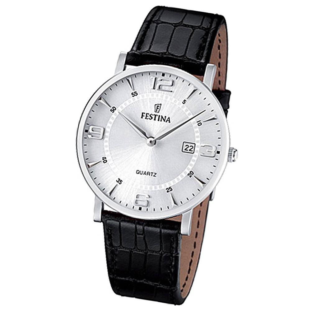 FESTINA Herren-Armbanduhr analog Quarz Leder Klassik Uhr UF16476/3