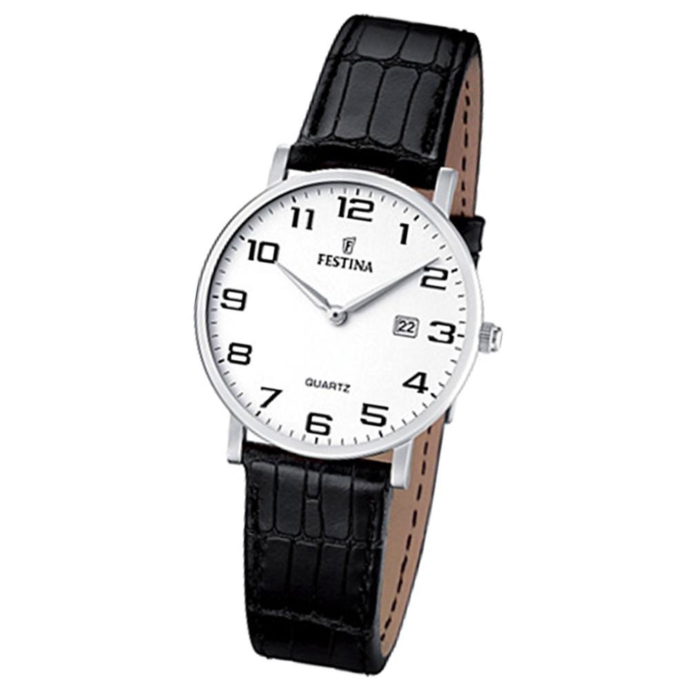 FESTINA Damen-Armbanduhr analog Quarz Leder Klassik Uhr UF16477/1