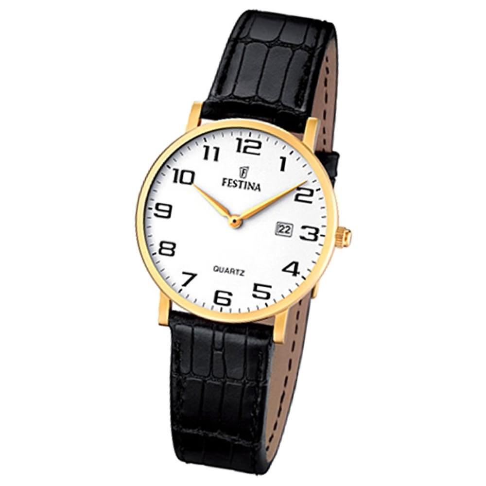 FESTINA Damen-Armbanduhr analog Quarz Leder Klassik Uhr UF16479/1