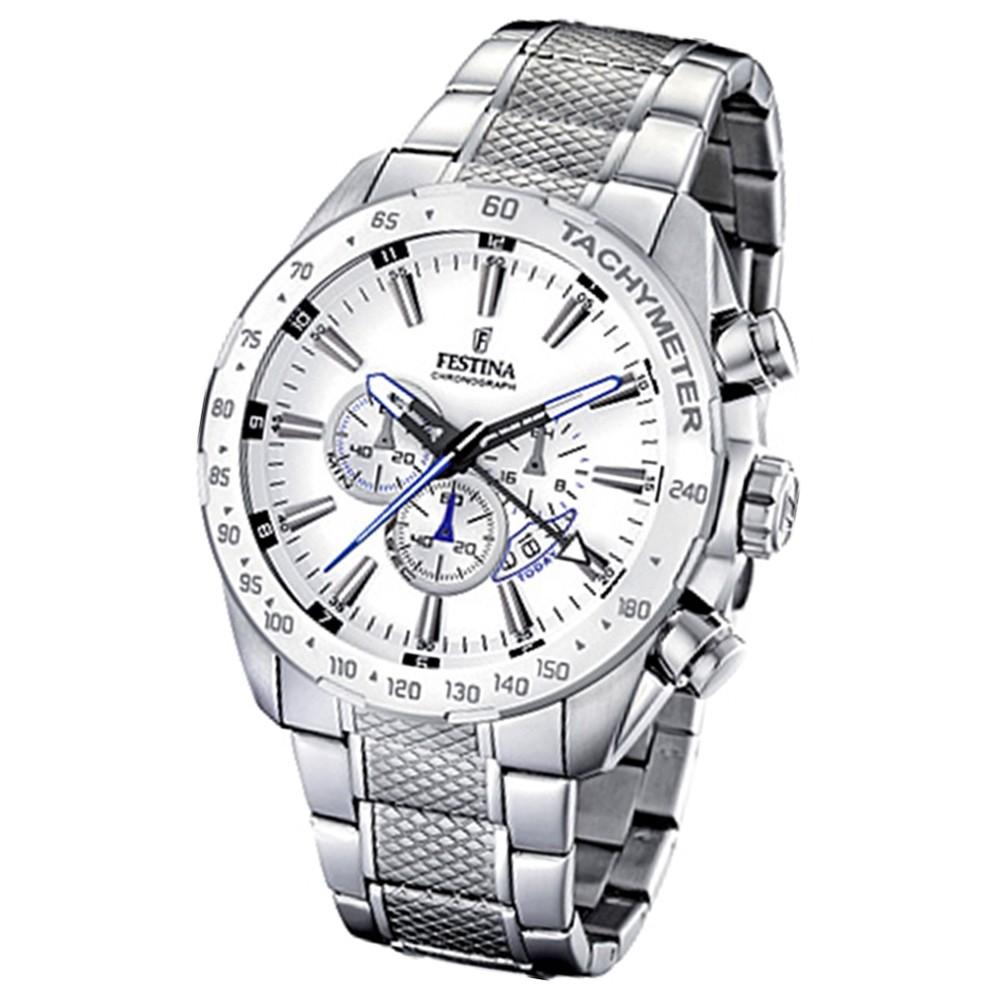 FESTINA Herren-Armbanduhr analog Quarz Edelstahl Chronograph UF16488/1
