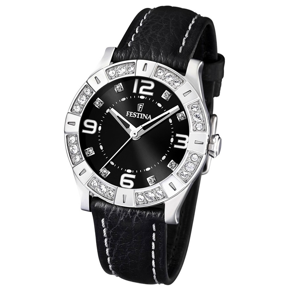 FESTINA Damen-Armbanduhr analog Quarz Leder Lady Trend Uhr UF16537/2