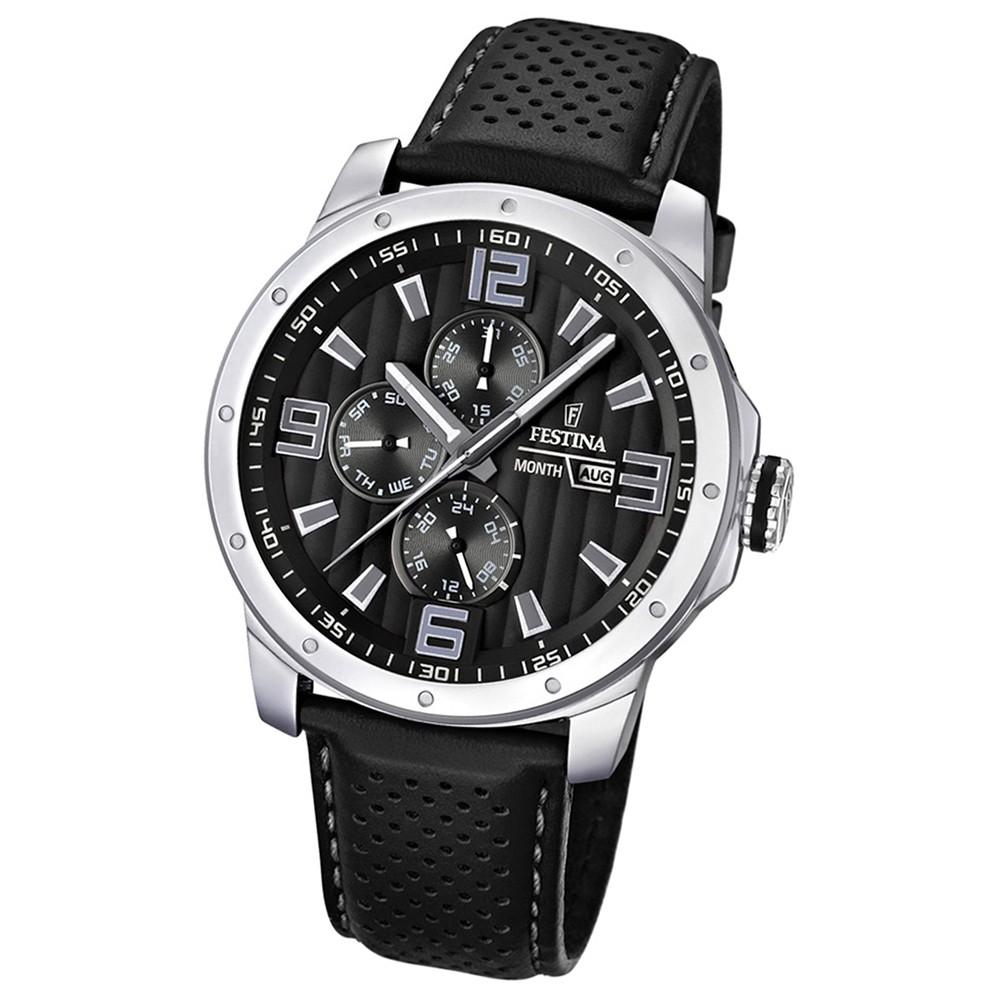 FESTINA Herrenuhr Multifunktion Sport Uhren schwarz UF16585/4