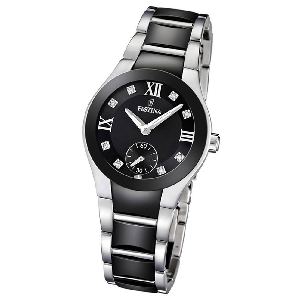 FESTINA Damen-Armbanduhr analog Quarz Edelstahl/Keramik Trend Uhr UF16588/3