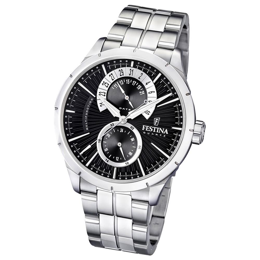 FESTINA Herren-Armbanduhr analog Quarz Edelstahl Multifunktion Uhr UF16632/3