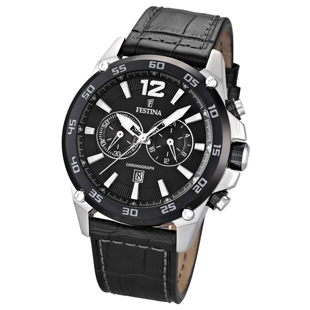 FESTINA Herren-Armbanduhr analog Quarz Leder UF16673/4