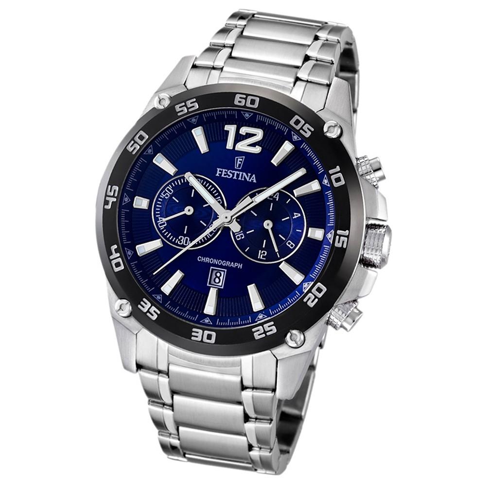 FESTINA Herren-Armbanduhr analog Quarz Edelstahl UF16680/2