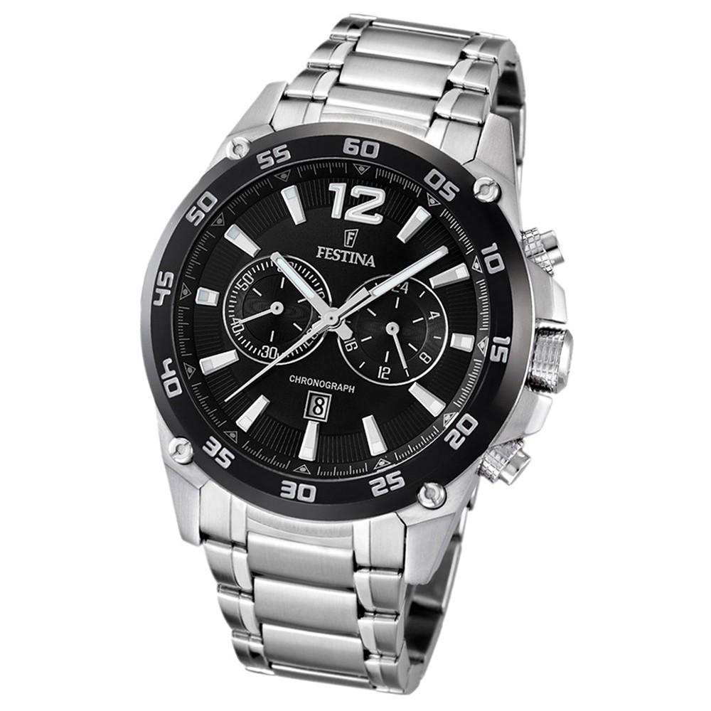 FESTINA Herren-Armbanduhr analog Quarz Edelstahl UF16680/4