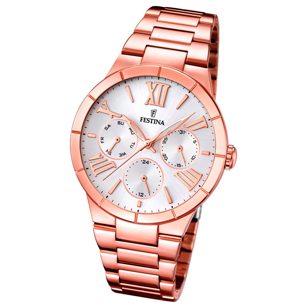 FESTINA Damen-Armbanduhr Mademoiselle analog Quarz Edelstahl UF16718/1