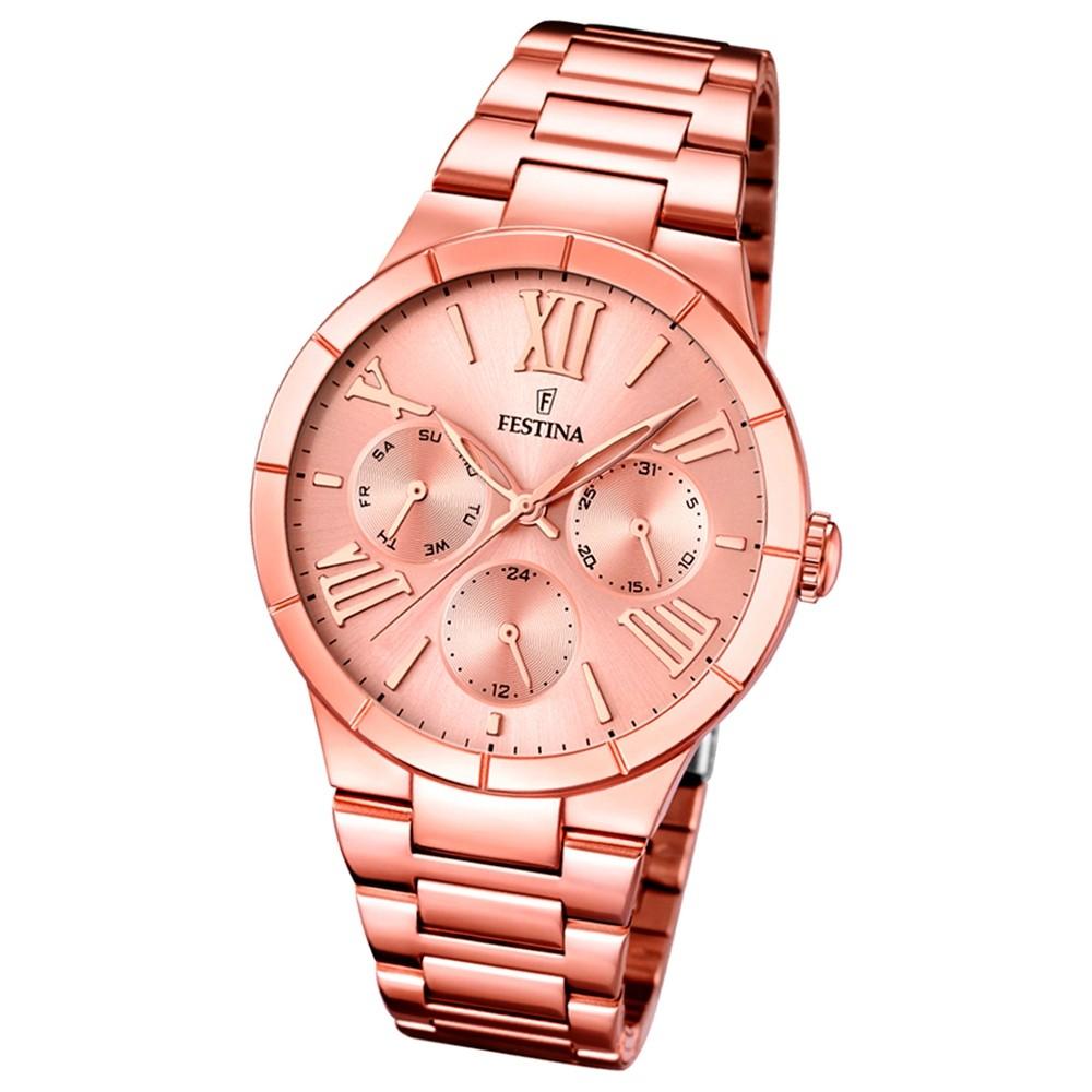 FESTINA Damen-Armbanduhr Mademoiselle analog Quarz Edelstahl UF16718/2