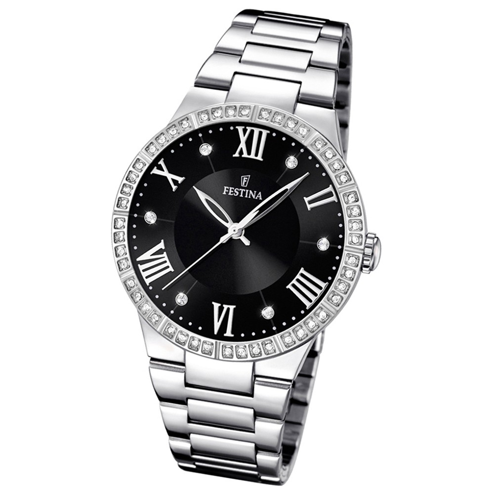 FESTINA Damen-Armbanduhr Mademoiselle analog Quarz Edelstahl UF16719/2