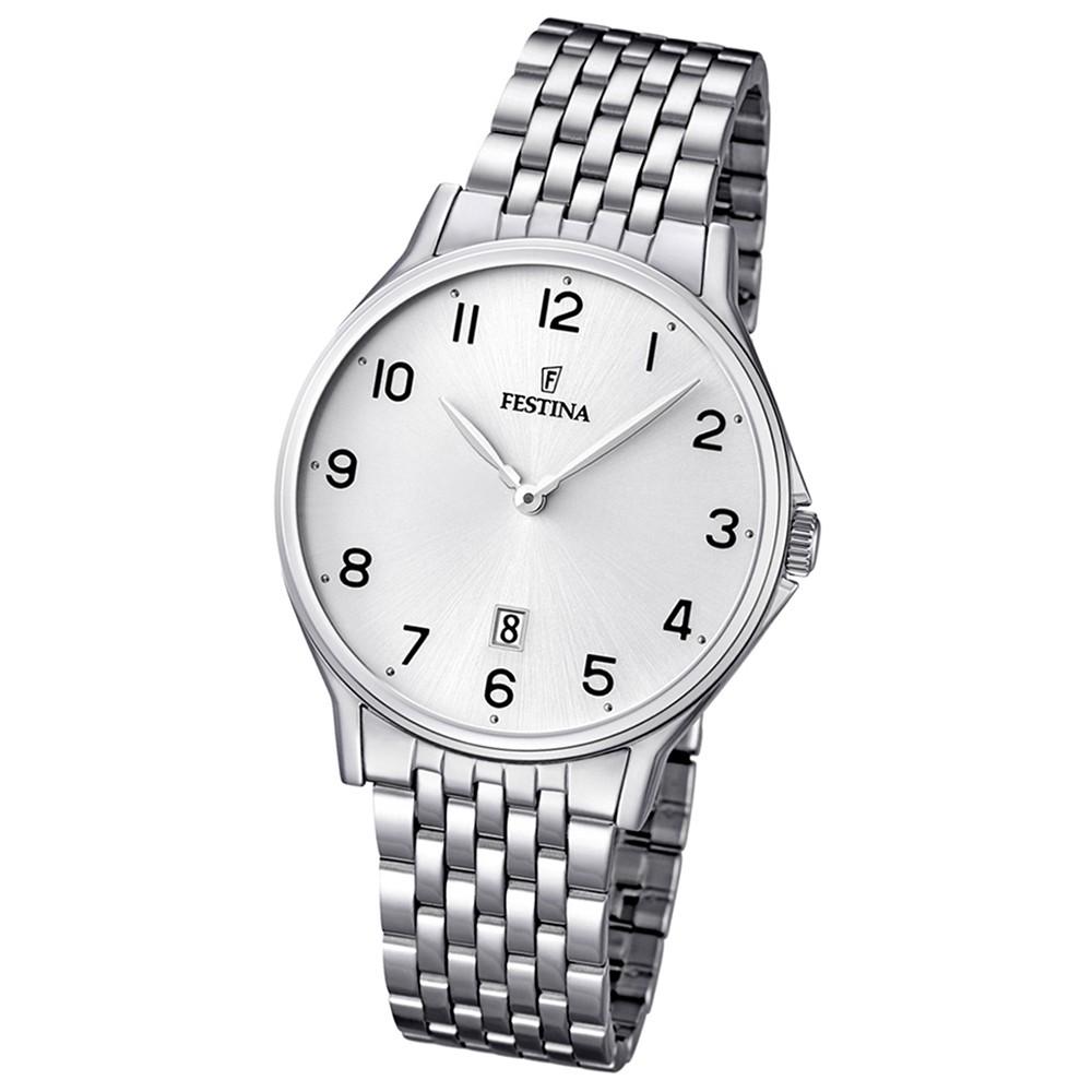 FESTINA Herren-Armbanduhr analog Klassik Quarz Edelstahl UF16744/1