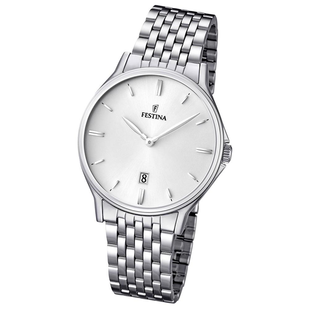 FESTINA Herren-Armbanduhr analog Klassik Quarz Edelstahl UF16744/2