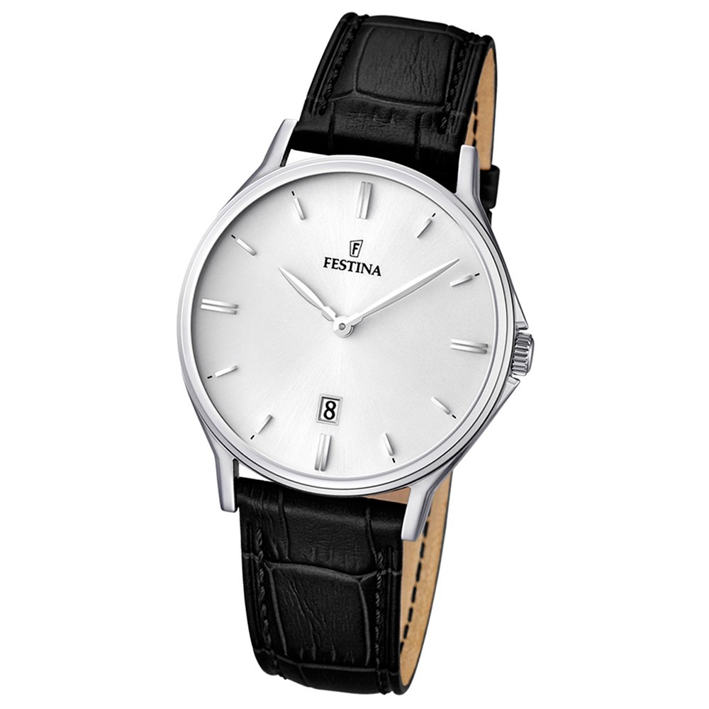 FESTINA Herren-Armbanduhr Klassik analog Quarz Leder UF16745/2