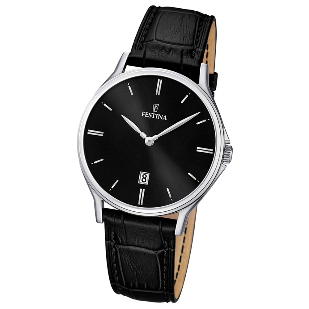 FESTINA Herren-Armbanduhr Klassik analog Quarz Leder UF16745/5