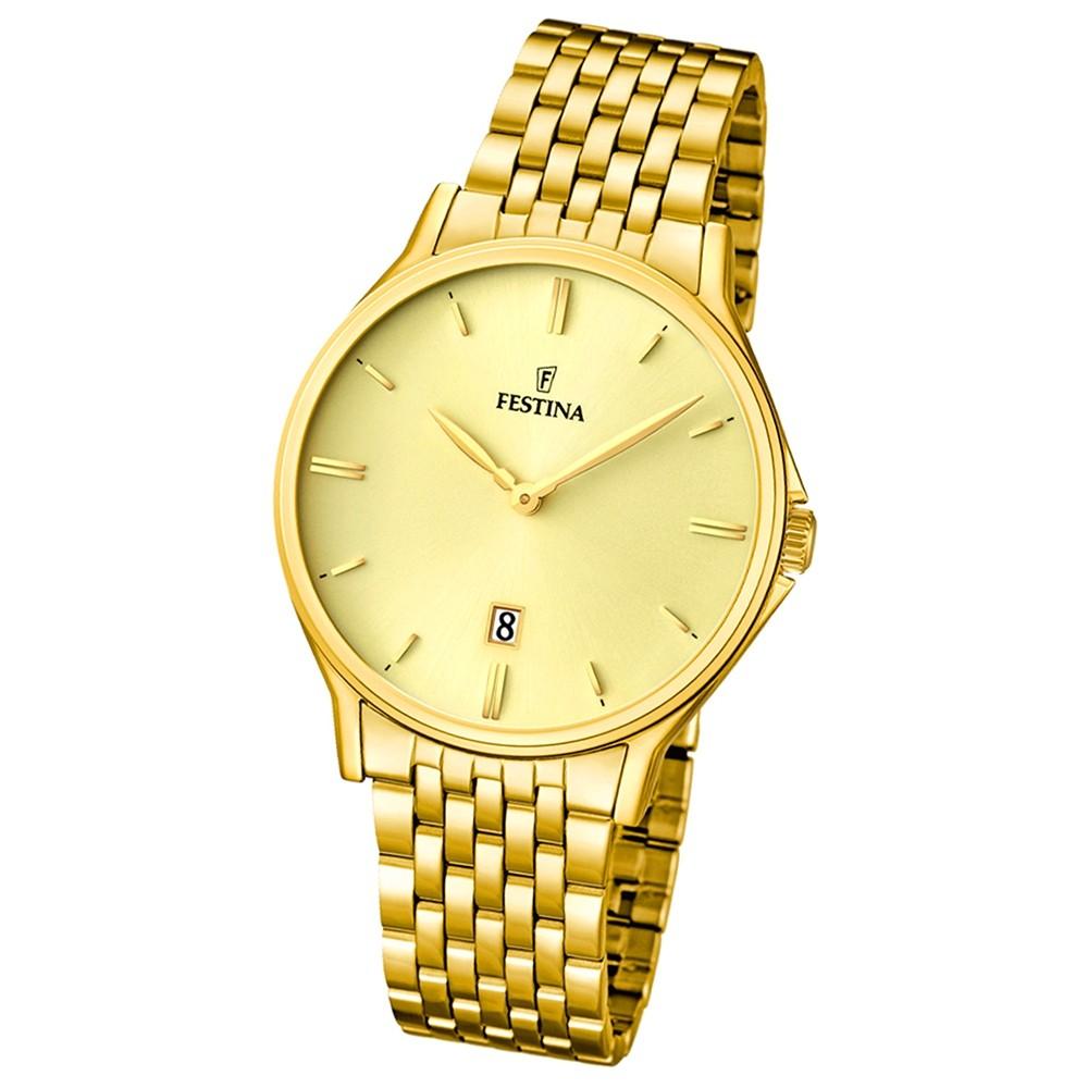 FESTINA Herren-Armbanduhr Klassik analog Quarz Edelstahl UF16746/2