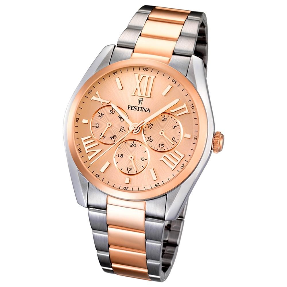 FESTINA Multifunktionsuhr Damen Klassik rosegold Trend Uhren UF16751/4