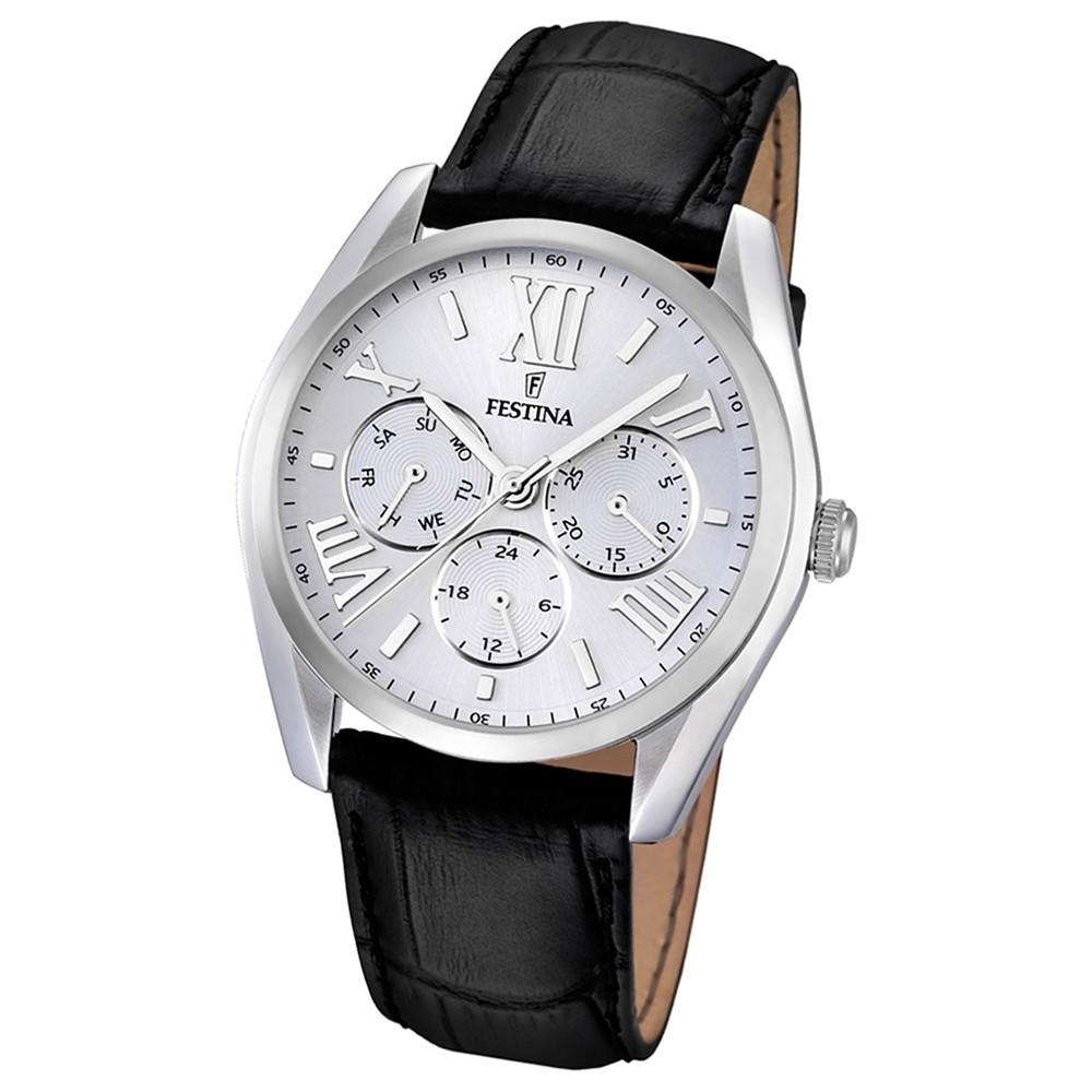 FESTINA Herren-Armbanduhr Klassik Multifunktion analog Quarz Leder UF16752/1