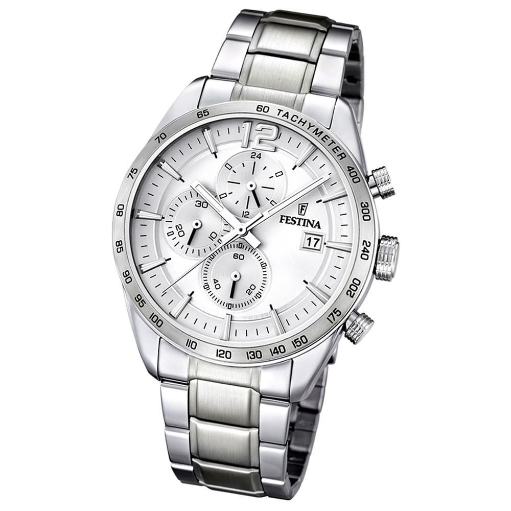 FESTINA Herren-Armbanduhr Sport Chronograph analog Quarz Edelstahl UF16759/1