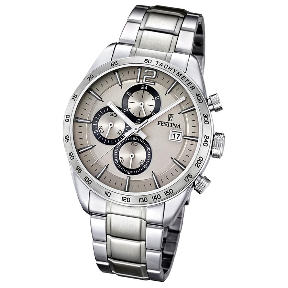 FESTINA Herren-Armbanduhr Sport Chronograph analog Quarz Edelstahl UF16759/2