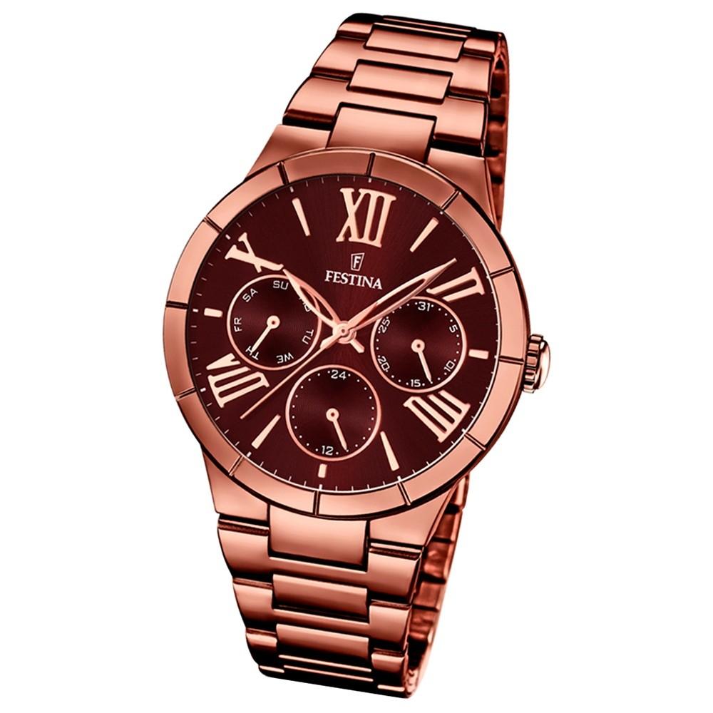 FESTINA Damen-Armbanduhr Mademoiselle analog Edelstahl PVD Bronze UF16798/2