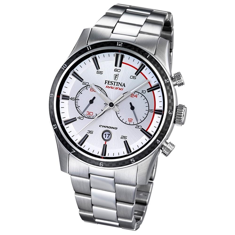 FESTINA Herren-Armbanduhr Timeless Chronograph Quarz Edelstahl silber UF16818/1