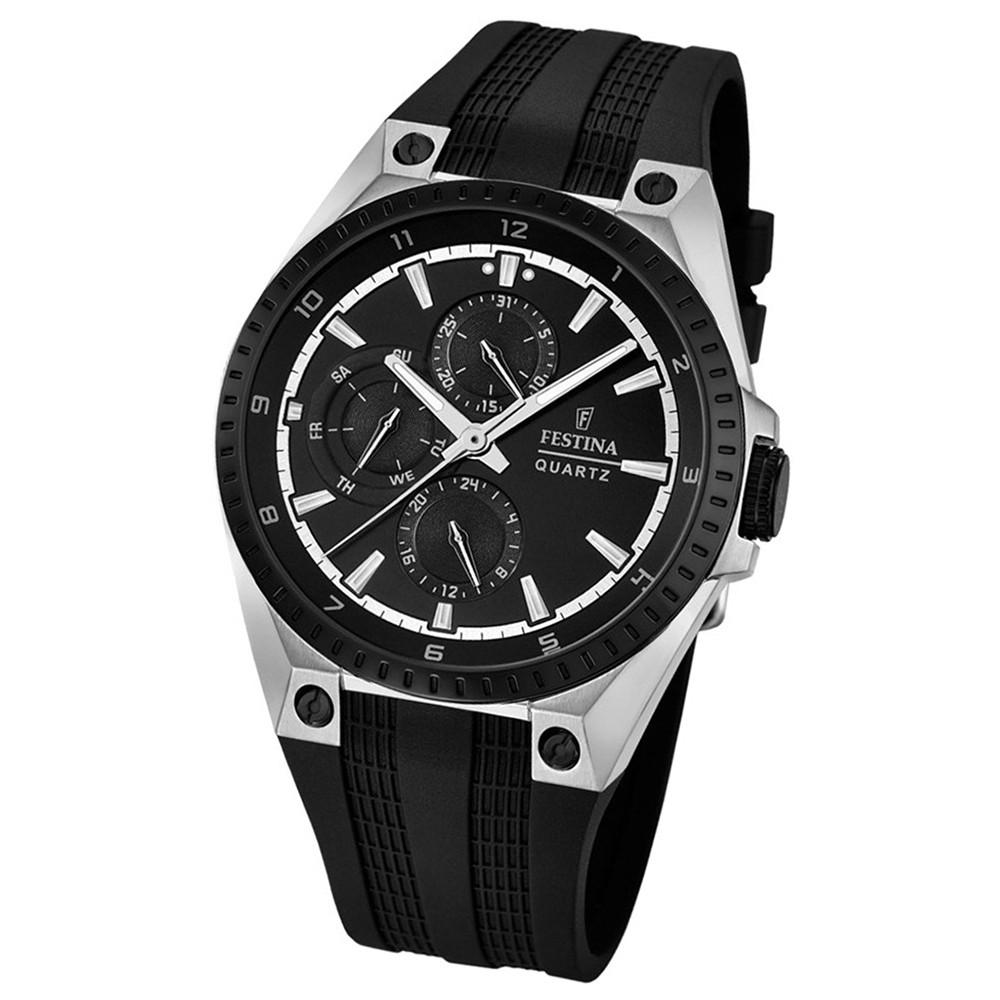 FESTINA Herren-Armbanduhr Sport Multifunktion Analog Quarz PU schwarz UF16834/1