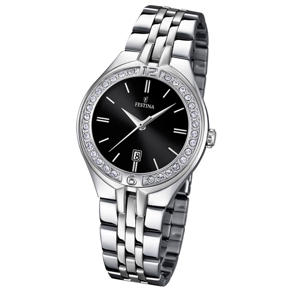 FESTINA Damen-Armbanduhr Mademoiselle Analog Quarz Edelstahl silber UF16867/2