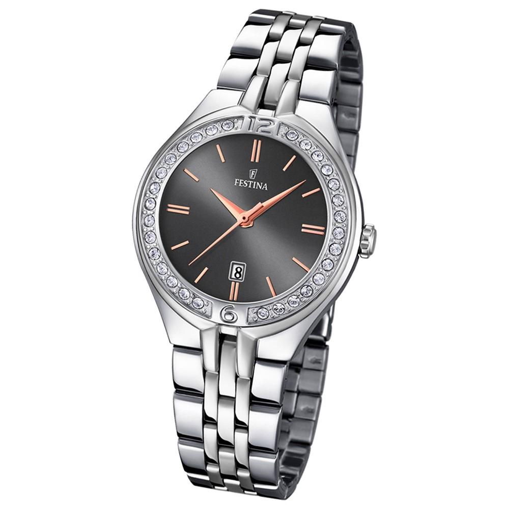 Festina Damen-Armbanduhr Mademoiselle analog Quarz Edelstahl silber UF16867/3