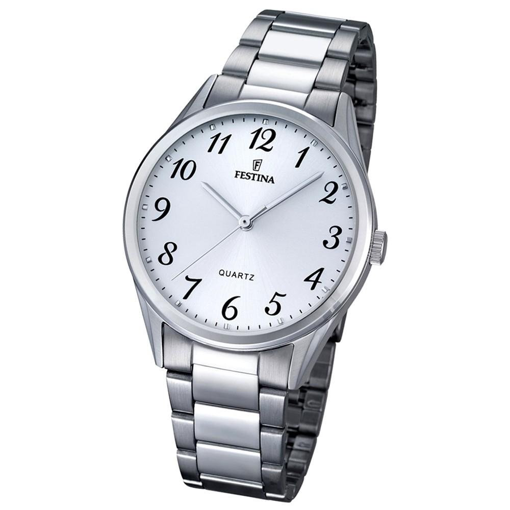 FESTINA Herren-Armbanduhr Stahlband klassisch Quarz Edelstahl silber UF16875/1