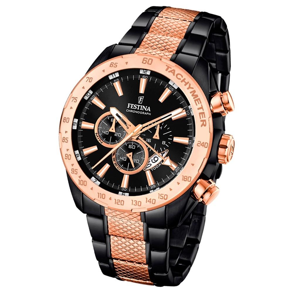 Festina Herren-Uhr Special Edition Chronograph schwarz rosegold UF16888/1