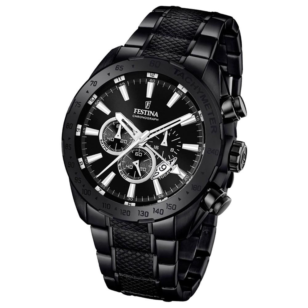 Festina Herren-Armbanduhr Prestige Chronograph Quarz Edelstahl schwarz UF16889/1