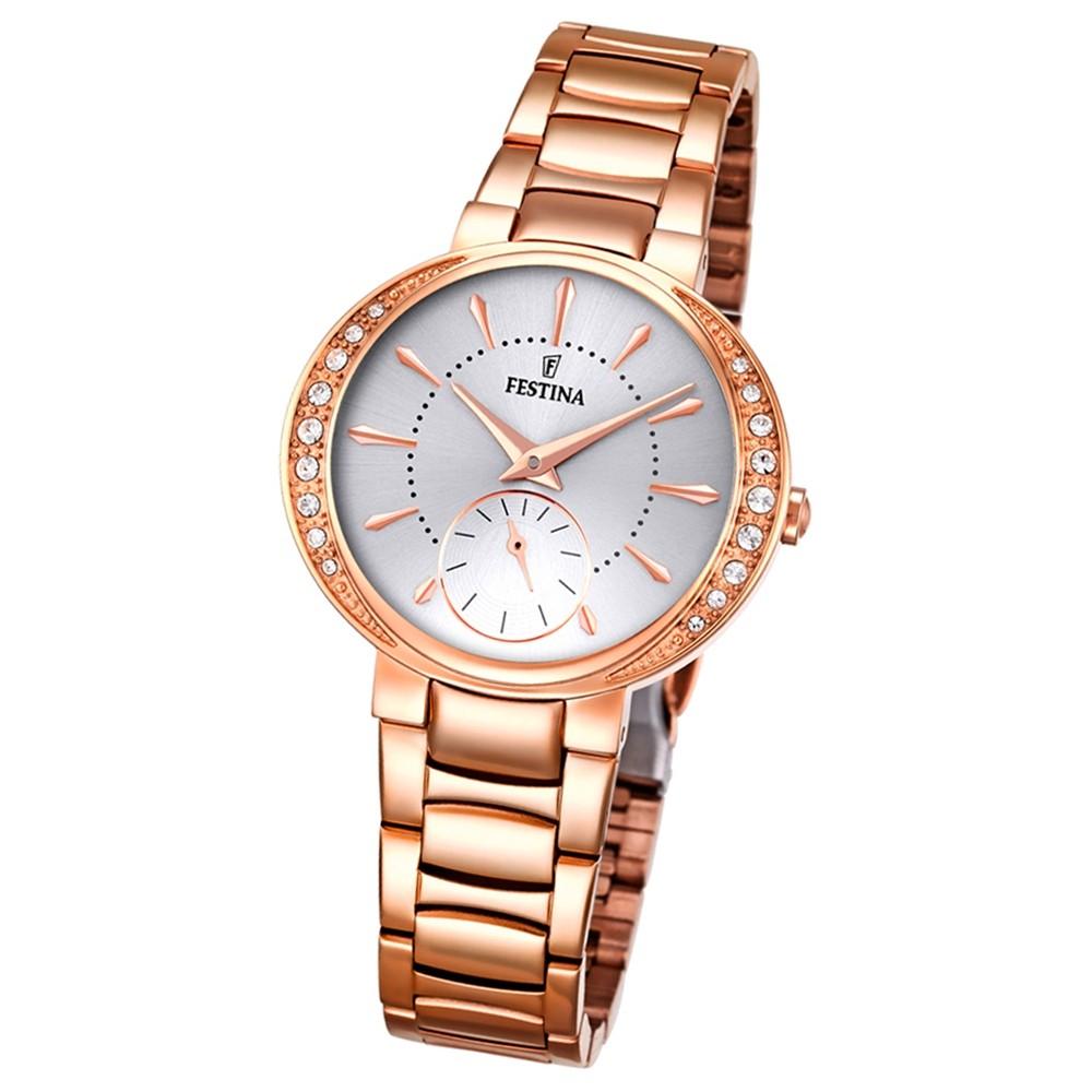 Festina Damen-Armbanduhr Mademoiselle analog Quarz Edelstahl rosegold UF16911/1